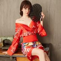 性感情趣睡衣冬季女印花极度诱惑情趣内衣睡袍浴袍和服家居服日式制服