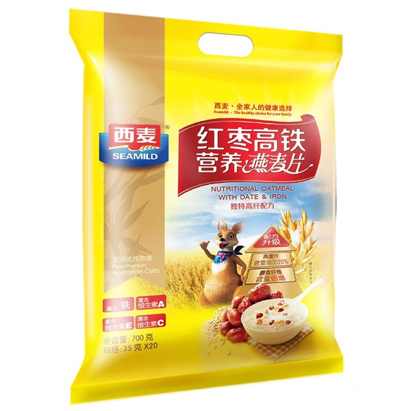 西麦 红枣 高铁 营养 燕麦片 700g 即食 免煮 早餐自营食品 支持货到付款