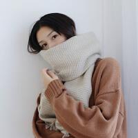 新款纯色加厚仿羊绒围巾女冬季保暖学生加长围巾披肩