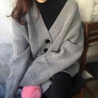 【大码女装】秋冬装韩版孕妇胖MM毛衣外套百搭潮妈中长款针织开衫 均码