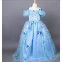 2016新灰姑娘公主裙子迪士尼女童连衣裙冰雪奇缘儿童春童装礼服
