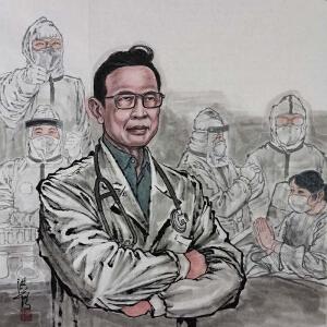 原创画《钟南山》葛洪彪ML5194 西安美院 专职画师
