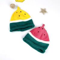 儿童西瓜帽秋冬保暖毛线帽水果针织帽小孩萌款帽子