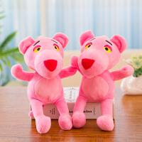婚庆抛洒布娃娃结婚礼物品毛绒玩具儿童小号玩偶抓机娃娃公仔 深灰色 粉红豹 20厘米左右单只价格颜色随机