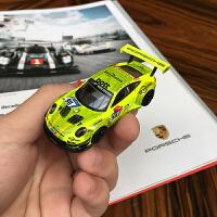 汽车模型Spark 1:64 保时捷991 911 GT3 R跑车收藏合金模型定制