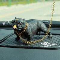 车内饰品摆件恶霸犬个性创意汽车内饰轿车中控台装饰车载用品