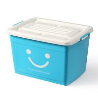 收纳箱塑料储物整理箱有盖带滑轮高中学生装书箱被子收纳盒 套装 170L+170L (共2个)