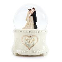 音乐盒雪花八音盒情人节新婚结婚礼物送女生