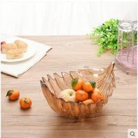 水果盘玻璃果斗时尚干果盘果篮果盆创意无铅果盘碗斗零食碗盘