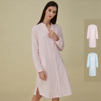 网易严选 女式色织双层纱宽松衬衫裙