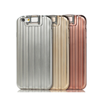 【包邮】Remax iPhone6S plus手机软壳 苹果5.5防摔电镀支架行李箱保护套