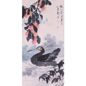 画家、美术教育家  唐云《戏水图》