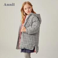 【2件3折价:361.5】专柜同款安奈儿童装女童长款双面穿羽绒服2020冬新款