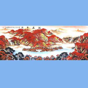 中国美协会员,中国书协会员,龙云书画院院长候桂峰(鸿运当头)2