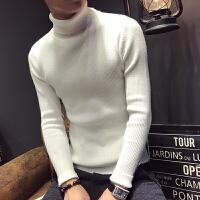 秋冬季高领毛衣男韩版潮流纯色修身翻领打底衫学生套头针织衫外穿