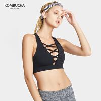 【新品上市】Kombucha性感深V聚拢定型无钢圈背心式瑜伽健身运动内衣K0436