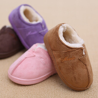 儿童棉拖鞋冬季包跟保暖男孩女孩棉鞋可爱家居鞋
