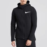 NIKE耐克男装夹克针织全长拉链篮球开衫连帽外套运动服925613