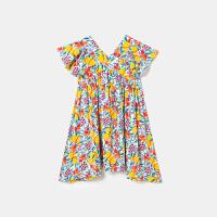 迷你巴拉巴拉女童连衣裙2020新款印花时尚全棉材质可爱舒适小裙子