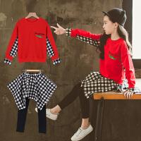 童装女童秋装套装2018新款韩版春秋装中大儿童两件套秋季洋气潮衣