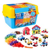 小颗粒积木男孩子城市警察系列儿童玩具3-6-9-12桶装拼装拼插积木