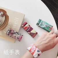 纸手表纸手表纸质防水酷炫智能手表创意个性撕不烂潮男女款 蓝底 社会猪
