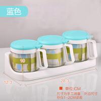 调料盒玻璃调味盒套装家用味精盒厨房组合装调味瓶盐罐调味罐