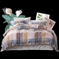 富安娜家纺床上四件套全棉纯棉北欧风床笠床单被套三件套床上用品