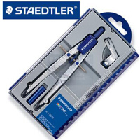 Staedtler施德楼 550 01 可调节学生速动中车圆规 可夹针笔铅笔