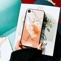 玻璃手机壳7p女生款卡通苹果x镜面后壳iphone8plus/7/6s套