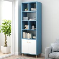 【限时3折】北欧书架简约置物架学生卧室落地小书柜简易客厅省空间经济型