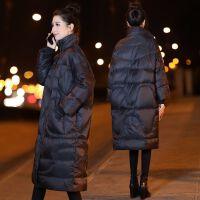 冬季面包服韩版立领宽松女中长款学生外套女大码女装棉衣 黑色
