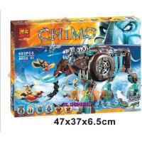 欢乐童年-兼容乐高式气功传奇赤马神兽火凤凰象女王的寒冰机器猛犸10297拼装积木