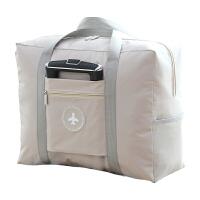 行李袋衣物包折叠手提包单肩女包防水旅行衣物收纳袋行李包包 卡其色(双层加厚) 新款飞机包 中