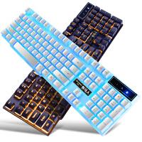 台式电脑笔记本游戏USB有线鼠标键盘静音无声套装联想华硕外接