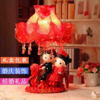 结婚用品灯 婚房装饰红花台灯婚房摆件喜庆台灯创意实用婚房台灯送闺蜜结婚礼物实用 主图色