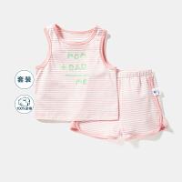 【618年中庆 129元任选3件】迷你巴拉巴拉童装男宝宝儿童套装2020夏装新款轻薄婴儿短袖套装
