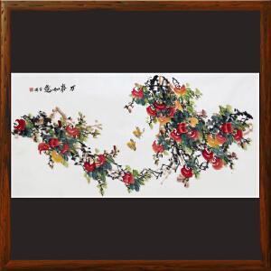 柿子画《万事如意》刘金瑞 R4800 陕西国画院特聘画家 美协会员 一级美术师