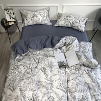 自然醒商场同款60支长绒棉印花四件套全棉棉床单被套亲肤裸睡床上用品套件