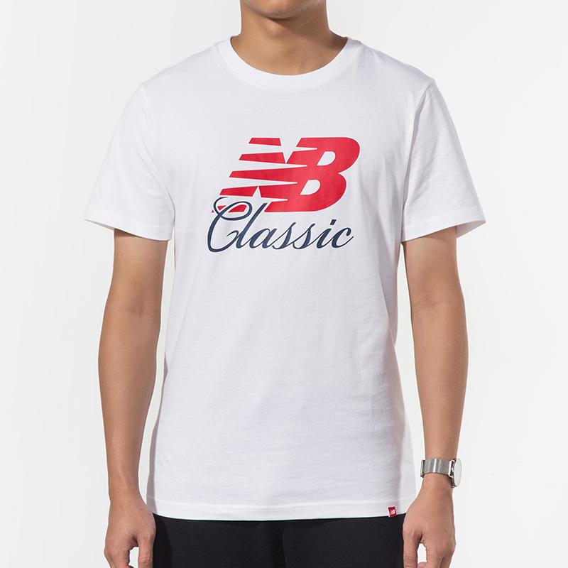 New Balance/NB 男装 运动休闲圆领透气短袖T恤 AMT91588WT 运动休闲圆领透气短袖T恤