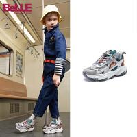 【券后价:189.4元】百丽童鞋男童潮流运动鞋2021春季新款中大童防滑老爹鞋儿童牛皮鞋