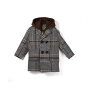 【限时购】中大童毛呢外套洋气大衣冬装新款儿童加厚加绒呢子大衣