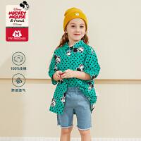 【2件4折】迷你巴拉巴拉女童外套2020夏装新款迪士尼米奇联名款女宝宝夏装