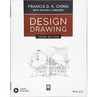 【预订】Design Drawing, Third Edition 9781119508595