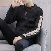 男士半高领毛衣秋冬加厚保暖修身毛衣情侣韩版学生潮流个性针织衫 深