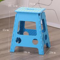 折叠塑料凳子便携式手提小板凳儿童户外马扎家用防滑高凳