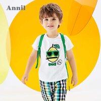 【2件3折价:50.7】商场同款安奈儿童装男童T恤短袖夏2020新款洋气立体卡通上衣