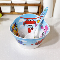 hellokitty 碗套装 儿童碗宝宝餐具防摔家用卡通可爱hellokitty创意小孩吃饭碗 飞侠 【造型碗+勺子】