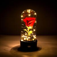 永生花礼盒音乐盒蓝牙音响玻璃罩鲜花 情人节进口永生花礼盒玫瑰保鲜花玻璃罩音乐盒生日礼物女蓝牙音响