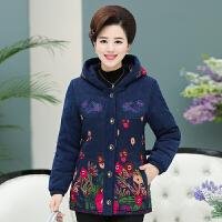 中老年人棉袄女50-60岁妈妈棉衣加绒保暖冬装老人衣服女冬季外套